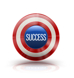 circle shield with success banner vector image