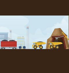 coal industry mine metallurgy vector image