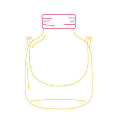 Color line small mason glass with wire handle vector