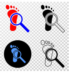 composition of gradiented dotted footprint audit vector image