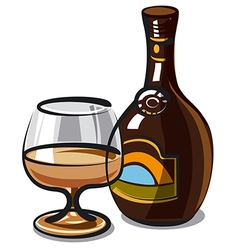 Cream liqueur vector
