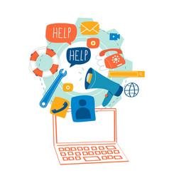 Customer service customer assistance vector