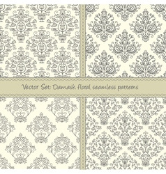 Damask festive seamless pattern vector image