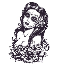 day dead girl 3 vector image
