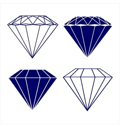 Diamond symbols vector