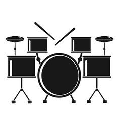 drums set icon simple style vector image