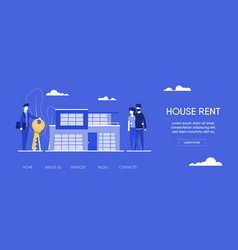 estate agent with young family vector image