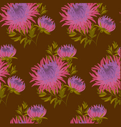 Fall flower seamless pattern vector
