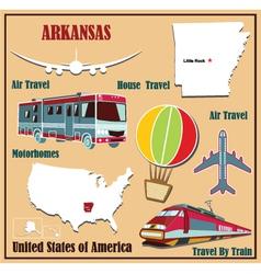 Flat map of Arkansas vector image