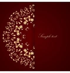 Floral elements ornate background vector image