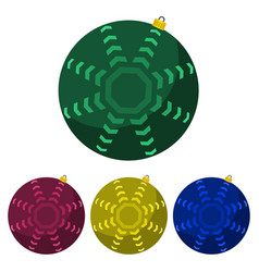 four multi colored christmas balls vector image