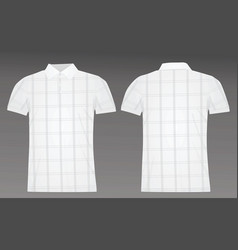 Golf checked polo shirt vector