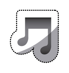 grayscale music sign icon vector image vector image