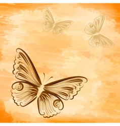 grunge background with a butterfly vector image
