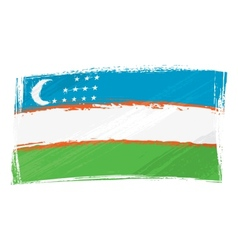 Grunge Uzbekistan flag vector image