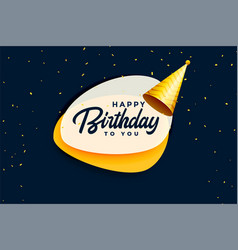 Happy birthday celebration banner with realistic vector