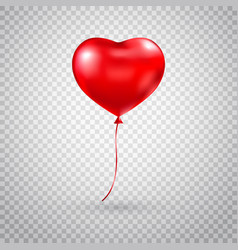 heart balloon red heart glossy balloon isolated vector image