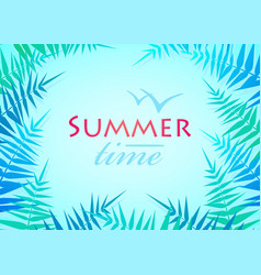Hello summer holiday poster traveling template vector