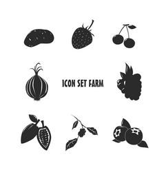 icon set farm vector image