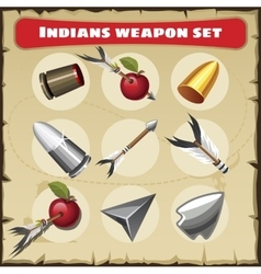 Indians traditional weapon set vector image