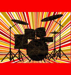 Jazz drum kit vector