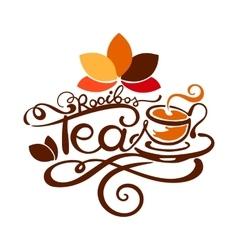 Lettering - Rooibos Tea vector image