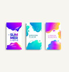 liquid color covers set vector image