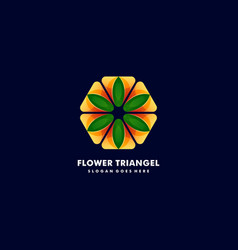 logo flower with triangle gradient colorful style vector image
