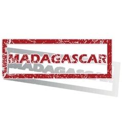 Madagascar outlined stamp vector