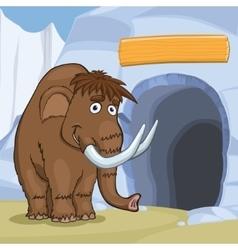 Mammoth Near Cave vector image
