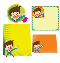 Man present background vector