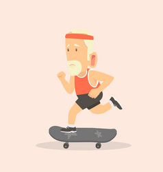 man with skateboard vector image