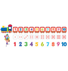Math dice number element vector