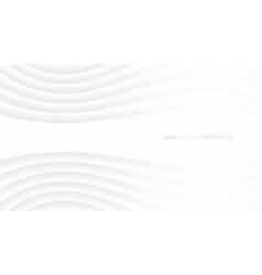 minimalistic elegant white abstract background 3d vector image