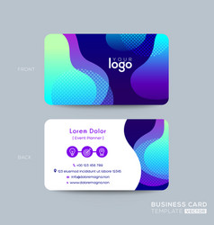 modern business card design with vibrant bold vector image