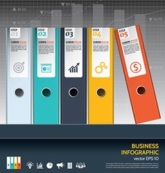 Modern business ring binders steps to success vector