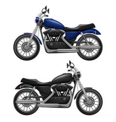 motorcycle realistic urban transport sport vector image