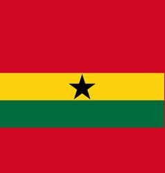 National flag republic ghana vector