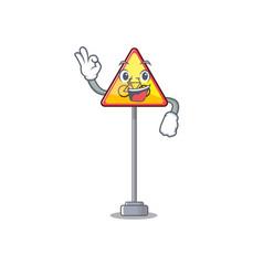 Okay no cycling character shaped a mascot vector