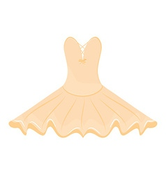Orange ballet dress vector