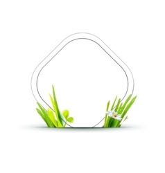 paper tag with grass vector image