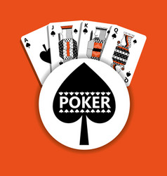 poker spade emblem casino cards fortune game vector image