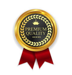 Premium quality golden medal icon seal sig vector