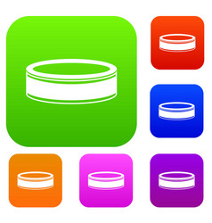 Puck set collection vector