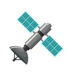 satellite icon isolated vector image