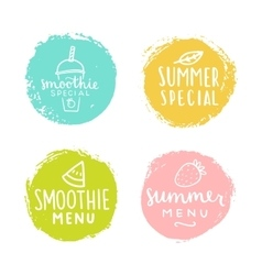 Set of badges Smoothie summer special vector image