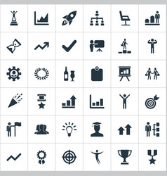 Set of simple winner icons vector
