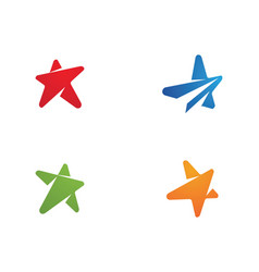 star icon template vector image