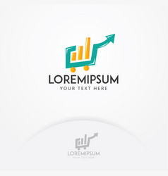 stock market logo design vector image