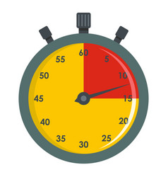 Stopwatch timer icon flat style vector